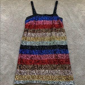 Multi colored sequin dress